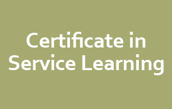 Certificate in Service Learning